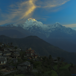 View of Annapurna Range from Ghandruk Village