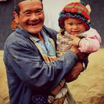 A Gurung villager with his grandson at Siurung Village