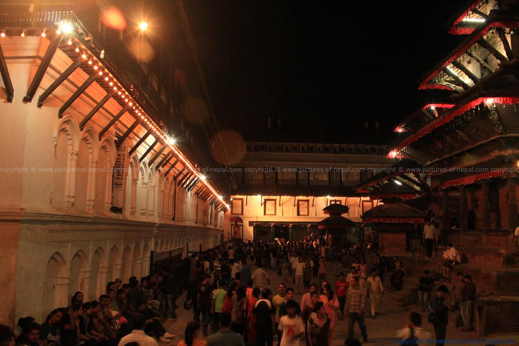 Indrajatra Festival at Hanuman Dhoka