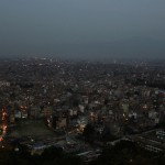 Kathmandu city in the evening
