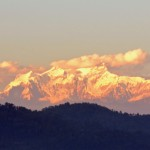 Manaslu Mountain Range on the way to Pokhara