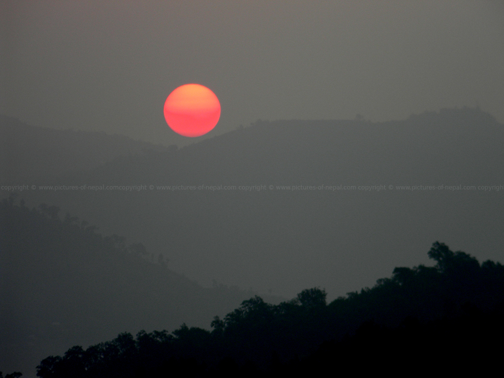 Sunrise from Manakamana Hill Hetauda